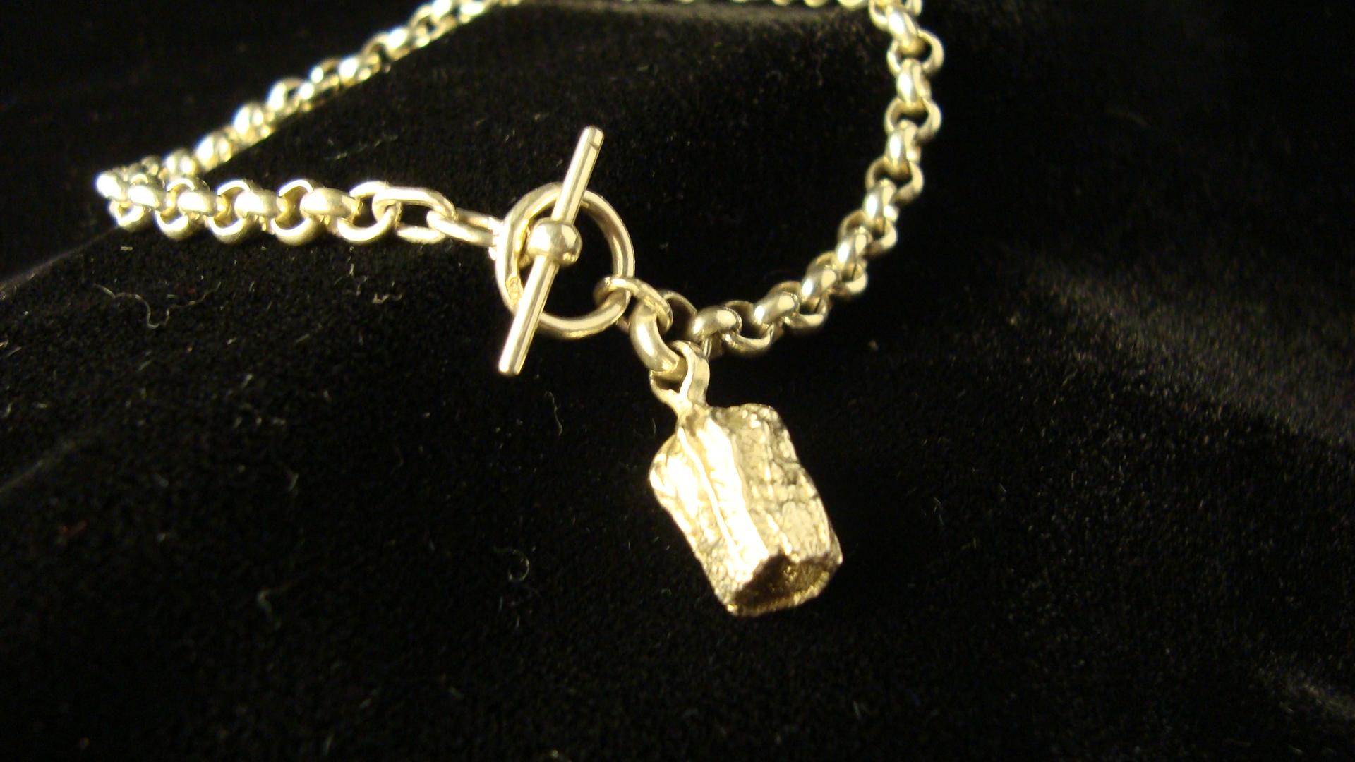 sterling silver gumnut charm bracelet