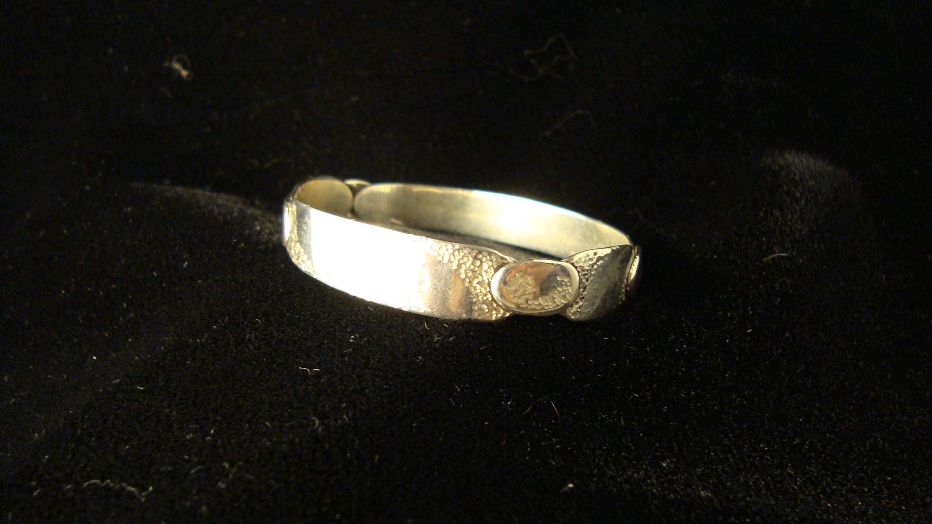 sterling silver handmade baby name bangle